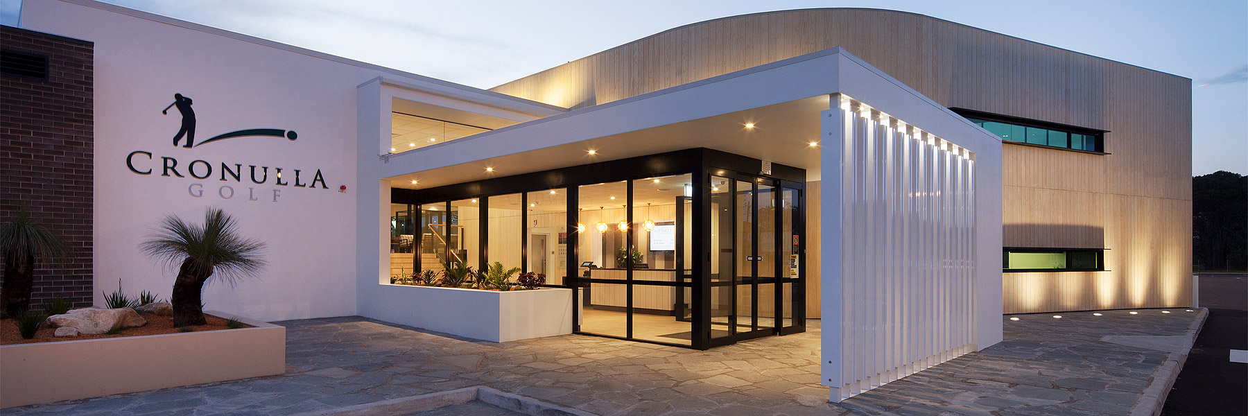Cronulla Golf Club designed by Abeo Architects including new entry, foyer and reception, new bars and lounges, new restaurant called The Greenery, new functions, new kitchen and stores, new loading dock, new toilets, new gaming and alfresco gaming, new TAB, new cashier, new administration and new furniture